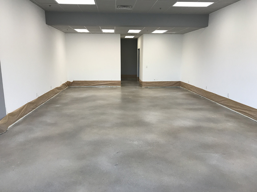 grey stained concrete floors Springdale, Fayetteville, Rogers