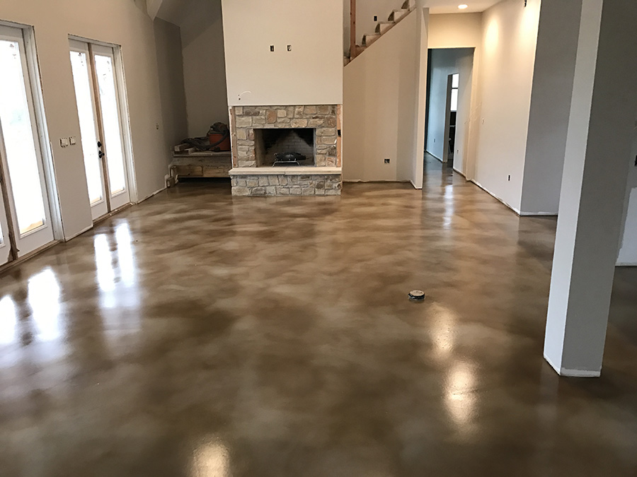nwa stained concrete
