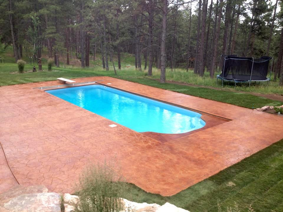 pool deck staining and stamping
